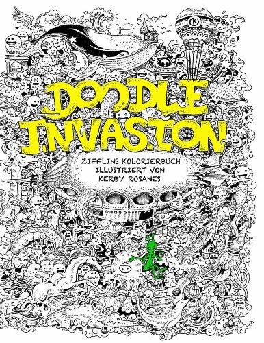 Doodle Invasion: Zifflins Kolorierbuch (Volume 1)  [Zifflin] (Tapa Blanda)
