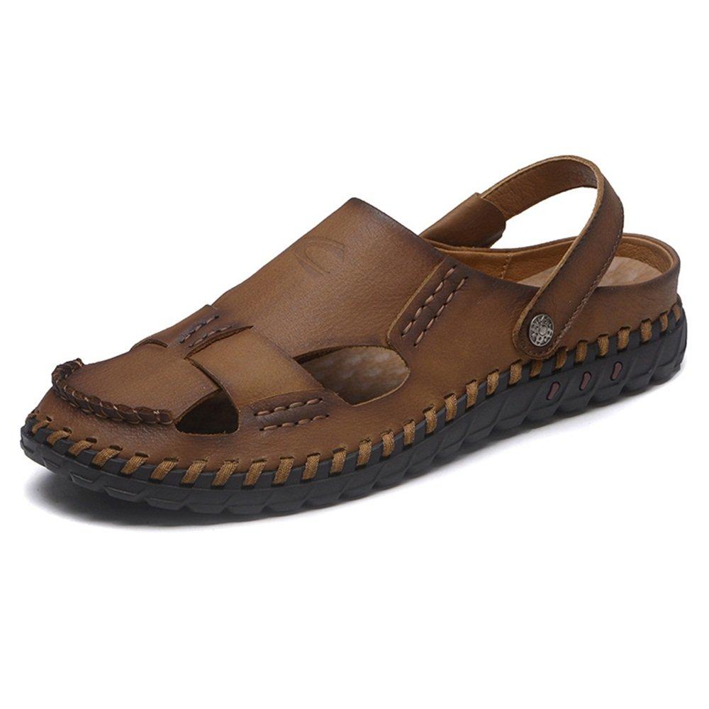 Pantoletten ZHANGRONG- Männer Bequeme Leder Sandalen Geschlossene Zehe Bequeme Männer Schuhe Mode Strand Sommer Outdoor Schuhe (Farbe : A, Größe : EU43/UK9/CN44) B 6548f3
