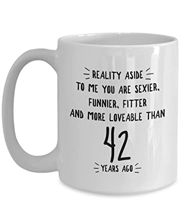 Amazon 42nd Wedding Anniversary Gifts For Him Reality Aside