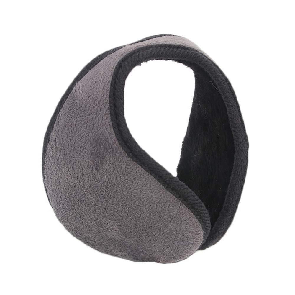Gray Healtheverday@1 Ear Muff Warmers Winter Basic Polar Fleece Earmuffs Lint Grip Wrap Soft Unisex