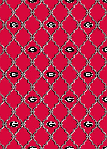 - UNIVERSITY OF GEORGIA 100% COTTON FABRIC-TRELLIS DESIGN-NEWEST PATTERN