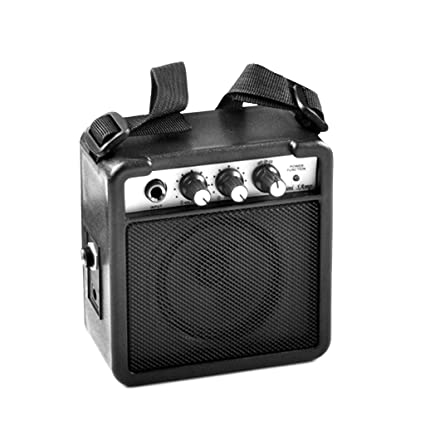 JAGETRADE 5W Guitarra eléctrica Amplificador de Sonido Portátil Negro Altavoz Clip de cinturón Efectos de distorsión
