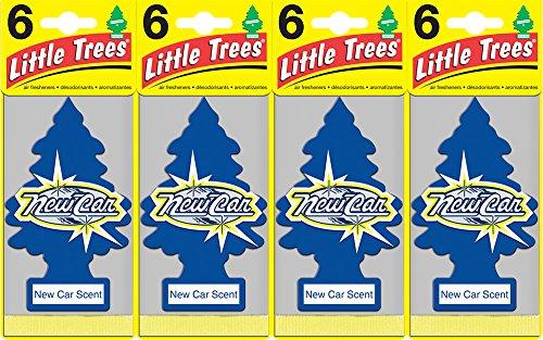 Little Trees New Car Air Freshener, (Pack of 24)