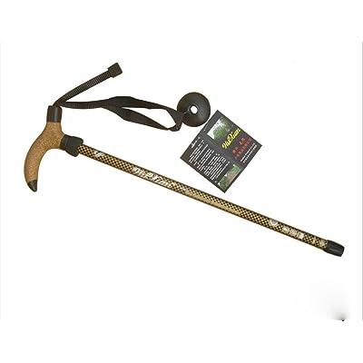 Ultra-léger à 3 branches courbées poignée montée bâton vieil homme bâton d'escalade en plein air bâton 65-135 cm bâton de randonnée jaune / rouge / bleu
