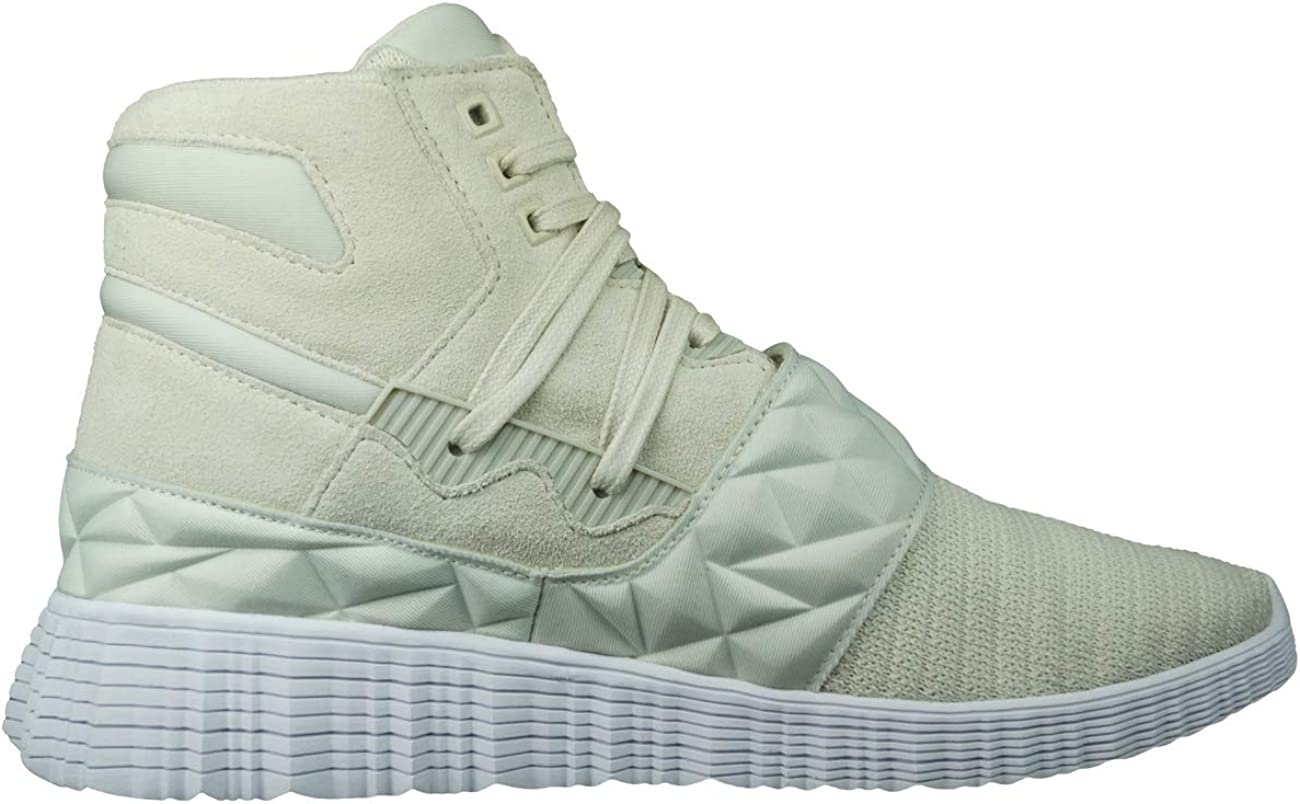 Supra Jagati Mens Casual Sneaker Boots Hi Tops Shoes Off White