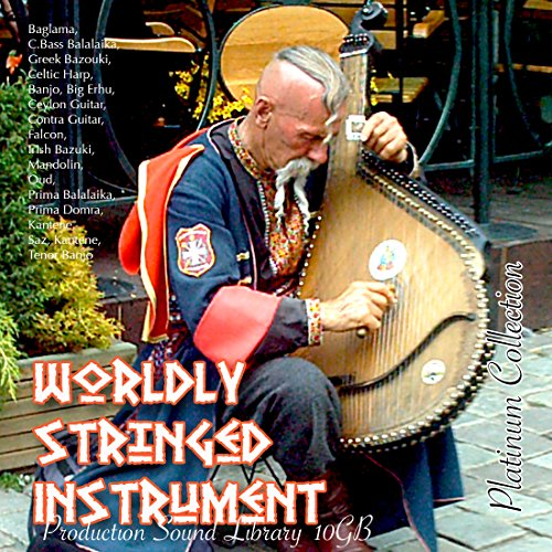WORLDLY STRINGED INSTRUMENTS - HUGE unique, very useful 24bit WAVe Samples/Loops Studio Library 10.5GB on 3 DVD or download by SoundLoad