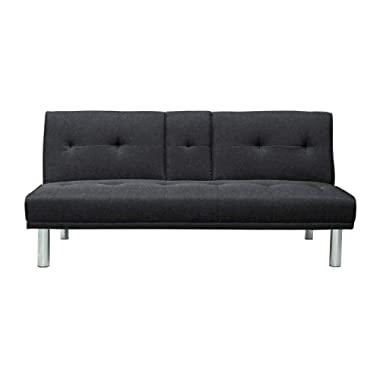 Pearington SC-BKES3LU2013 Blake Futon Sofa & Couch with Cup Holders, Grey