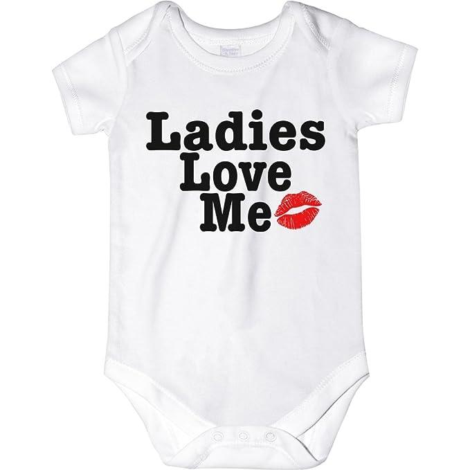 3e321459b Amazon.com: CarefreeTees Ladies Love Me (Baby Bodysuit or Tee-Shirt ...