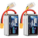 Zeee 14.8V 120C 1500mAh 4S Lipo Battery Graphene Battery with XT60 Plug for FPV Drone Quadcopter Helicopter Airplane RC…