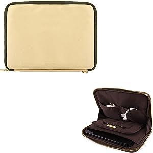 "Universal Tablet Sleeve Pouch Carrying Case Cover 7"" to 8"" for Apple iPad Mini 4 / Asus ZenPad Z8 / ZenPad 3 / ZenPad S8 / Barnes & Noble Nook Tab S2 / Insignia Flex Elite (Tan-Olive Green)"