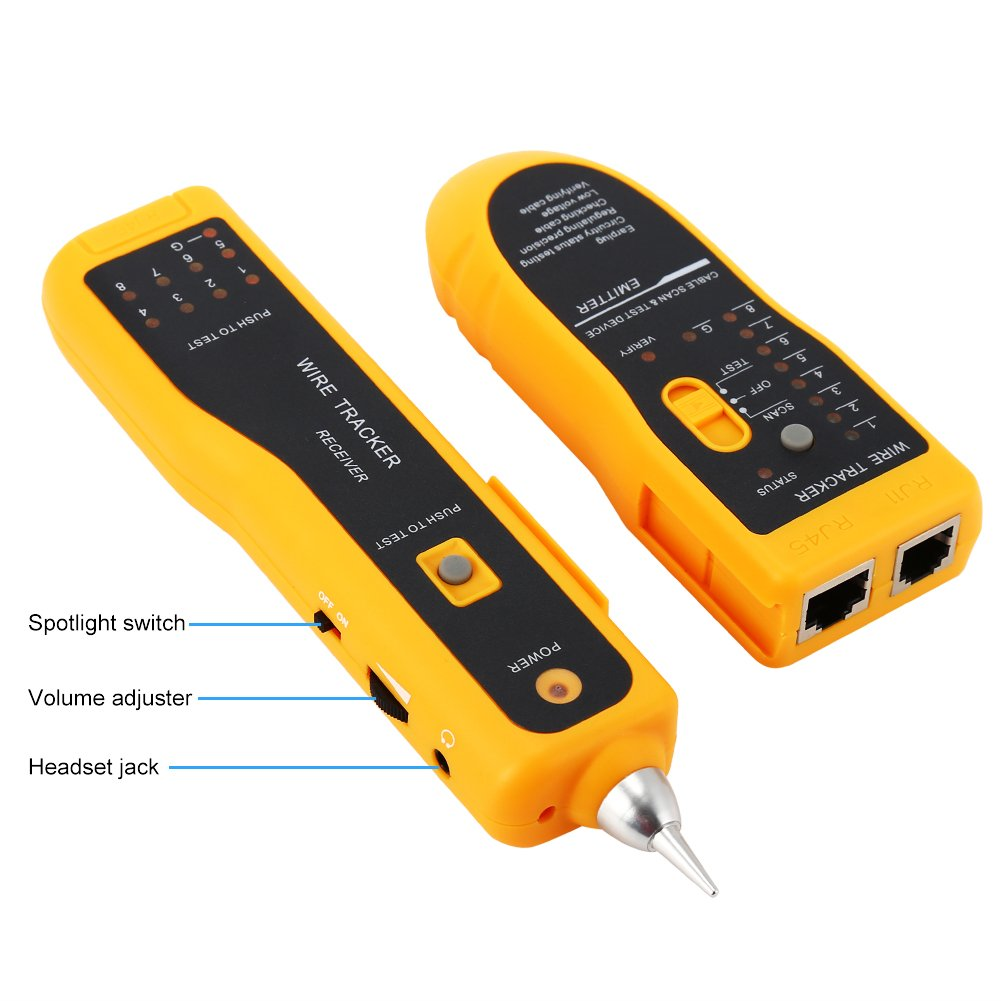 Wire Tracker Rj11 Rj45 Line Finder Cable Tester For Network Lan Wires And Functional Addition Ceiling Can Possible That The Kind Ethernet Collation Phone Telephone Test Tracer Amazon