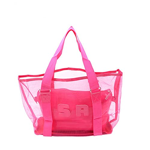 Amazon.com: yiuswoy Fashion PVC playa bolsas transparente de ...