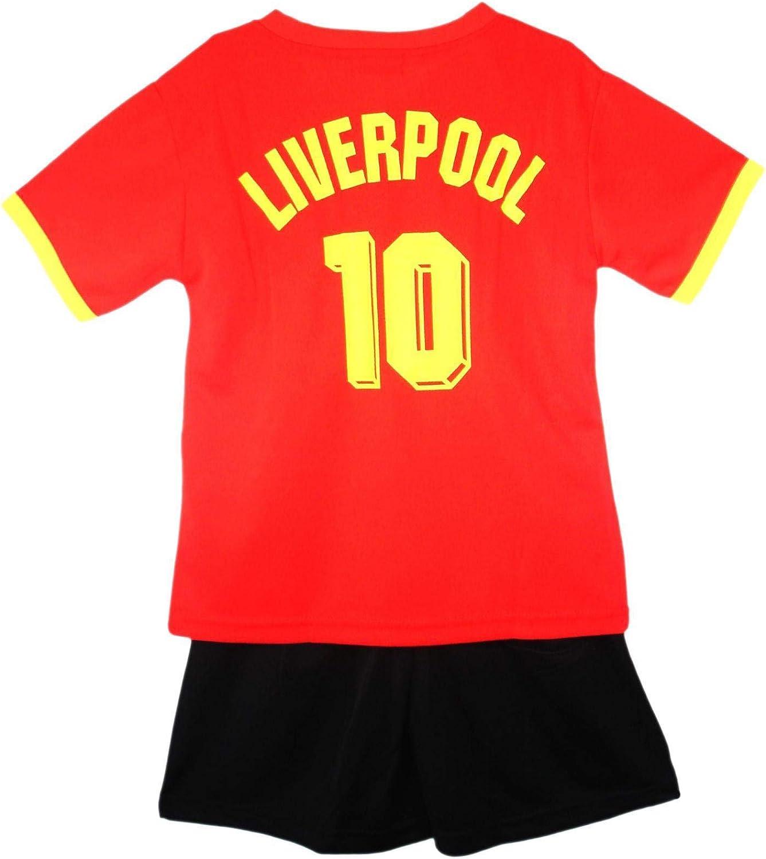Boys Liverpool Football Kids Vest TOP /& Shorts Girls Summer Set KIT 2-14 Years