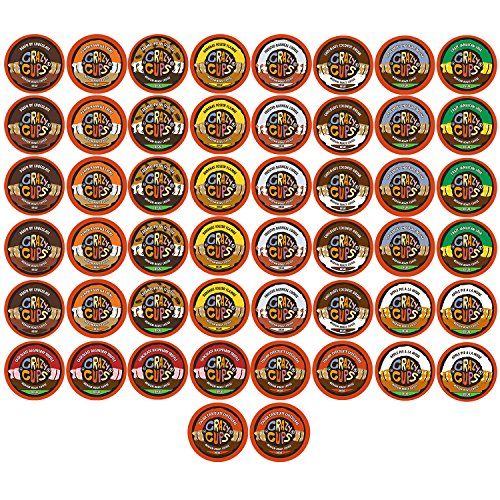 Crazy Cups Decaf Flavored Coffee Single Serve Cups For Keurig K Cup Brewer Variety Pack Sampler, 50 Ct