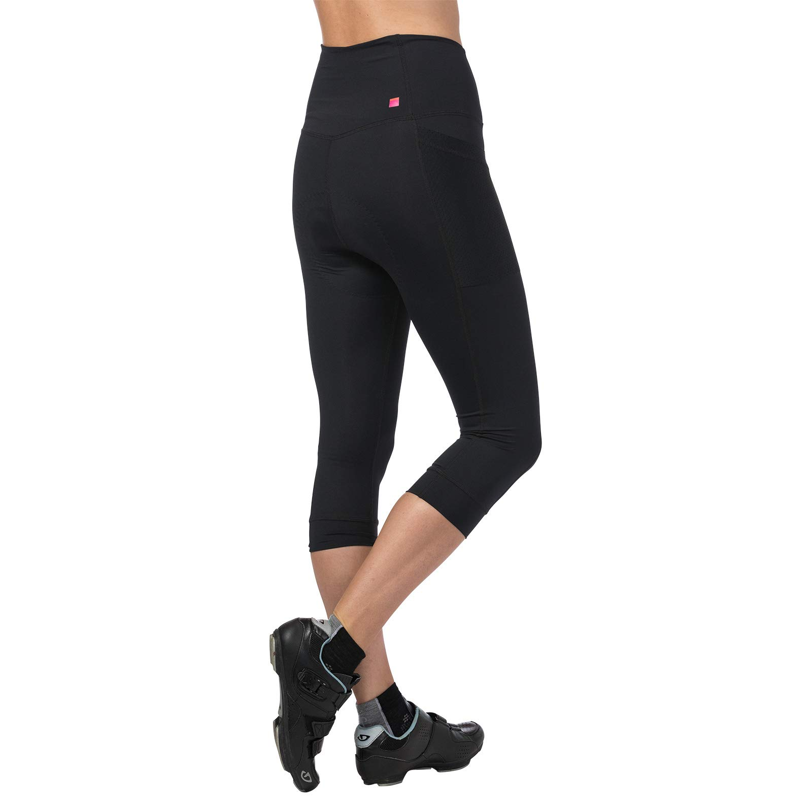 Terry Holster Hi Rise Cycling Capri Pant for Women - Bike Bottoms with Pockets and HI-Rise Waistband Moderate Compression – Black – Small by Terry (Image #2)