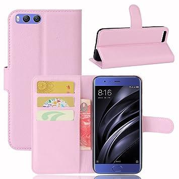 Xiaomi Mi 6 Funda, Premium PU cartera de piel teléfono celular ...