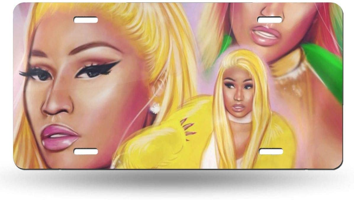 Amazon Com Kennethdubreuil Nicki Minaj Art Vintage Auto License Plate Tin Sign Embossed Tag Size Home Pub Bar Decor 6 X 12 Home Kitchen