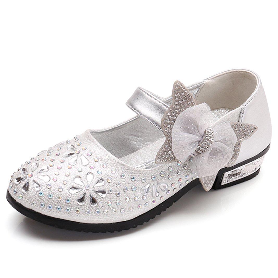 SITAILE Enfant Sandales pour Fille Chaussures de Ceremonie Princesse Ballerine Paillettes Noeud...