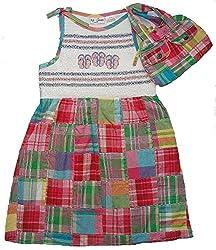 B.T. Kids Girl's Size 4 Summer Patchwork Beach Dress, Purse Set