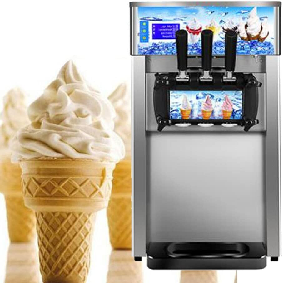 Commercial Ice Cream Maker High efficiency Ice Cream Making Machine with 3 Flavors Output (16L/h)