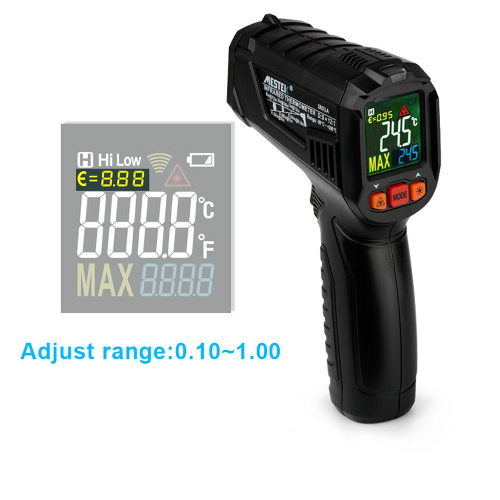 Amazon.com: ETbotu Handheld Digital Thermometer Humidity Meter Infrared Hygrometer Temperature Pyrometer: Office Products