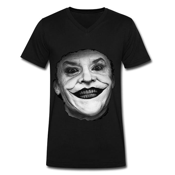 COOL el Joker & Batman Camisetas de cuello para hombre, Hombre, color negro,