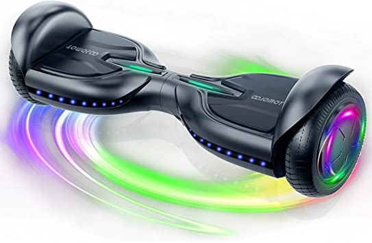 Hoover Board with LED Lights Balancing Board for Adult and Kids Gift. Self Balancing Scooter Hoverboard with Bluetooth TOMOLOO Hoverboards 6.5 Solid Tires Wheel