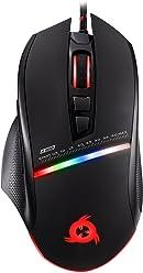 KLIM Skill Souris Gamer Haute Précision - Nouveauté - USB Filaire - DPI ajustables - Boutons Programmables - Confortable pour toute taille de main - Excellent grip Noir