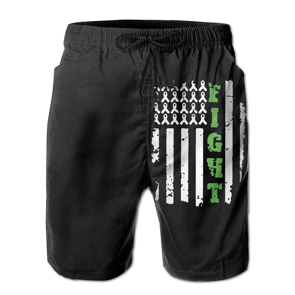 Bile Duct Cancer Awareness1 Mens Fashion Board//Beach Shorts Summer Casual Swimming Shorts with Pockets