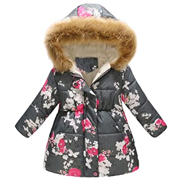 d3f9e6961 Amazon.com  Clearance!! 1-6T Kids Baby Girls Winter Floral Fleece ...