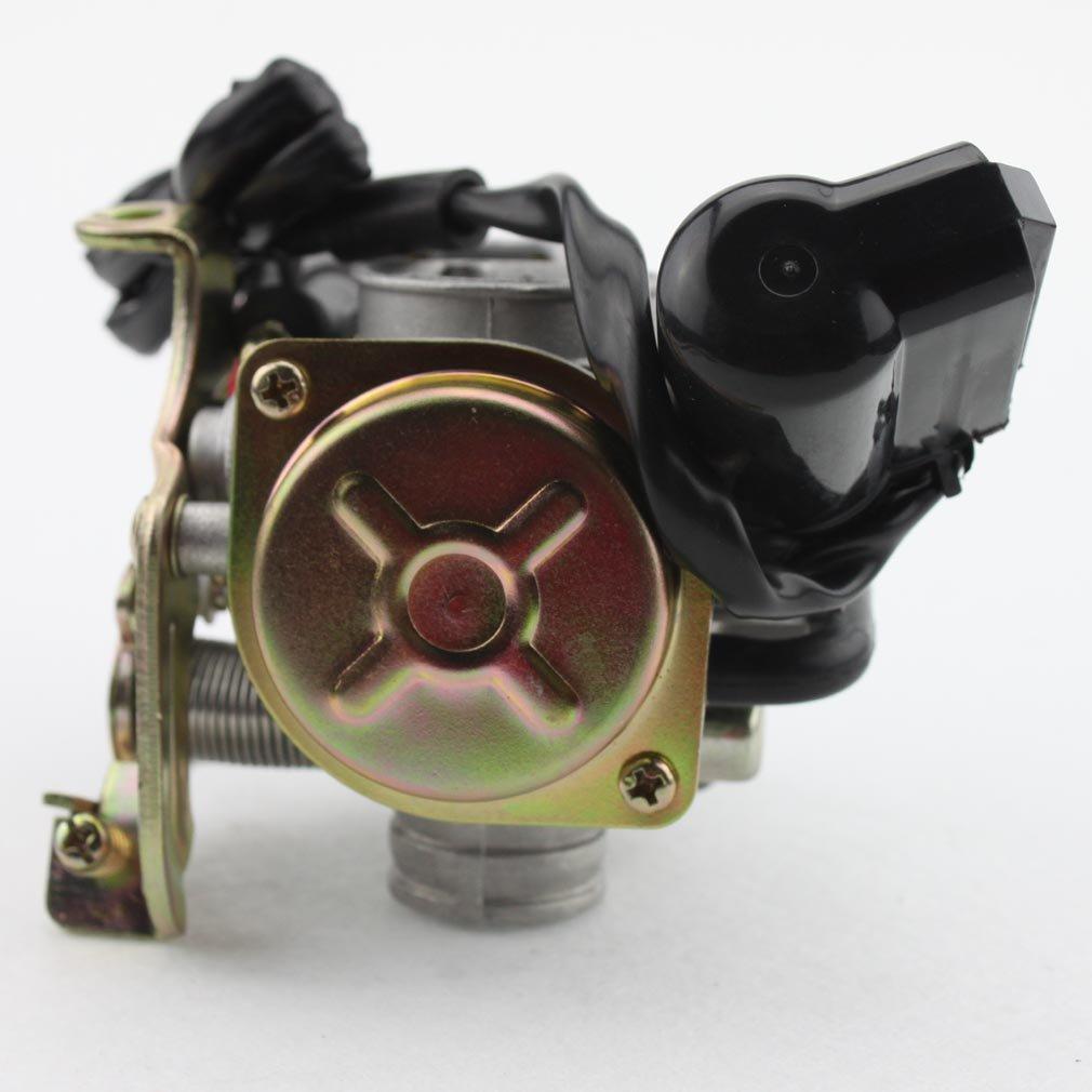GOOFIT Filtro de Aire del Carburador Moto 18mm con Colector de Admision para GY6 4 Tiempos 50cc 60cc 80cc Pocket Bike Scooter Ciclomotor ATV