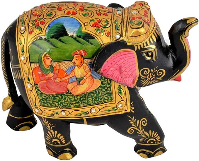 Amazon.com: Truesellershop - Figura de elefante pintada a ...