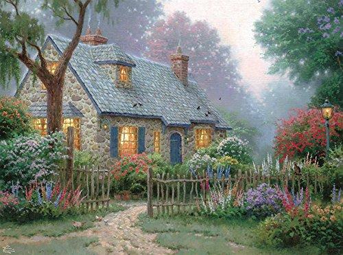 Ceaco Thomas Kinkade - Foxglove Cottage Puzzle, 1000Piece Puzzle