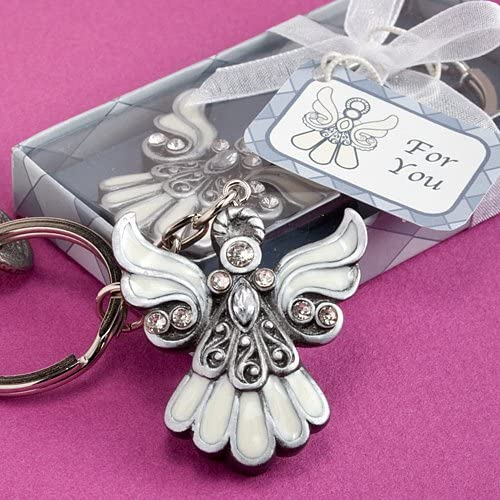 Key Ring Mum to Be Baby Shower Favour Christening Gift  Guardian Angel Jewellery