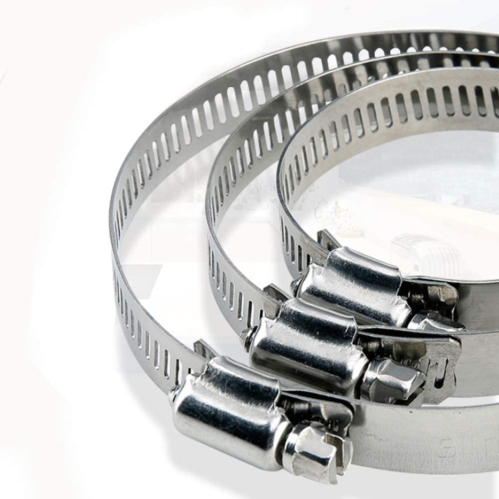 SheMi Outils /à Main Acier Inoxydable Pince pour Tuyau Colliers de Serrage R/églable M/étal Conduit Pinces Fixation Tuyau Flexible Tube Organiseur