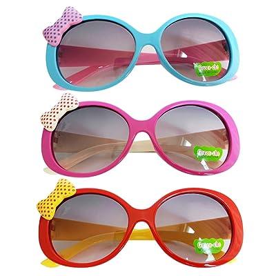 MonkeyJack 3pcs Kids Cute Fashion Bowknot Decoration Fun Sunglasses Gift