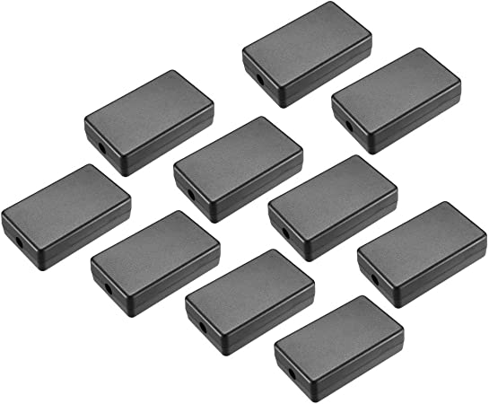 Awclub 5Pcs ABS Plastic Electrical Project Case Power Junction Box 40 x 20 x 11mm Project Box Black 1.57 x 0.78 x 0.43