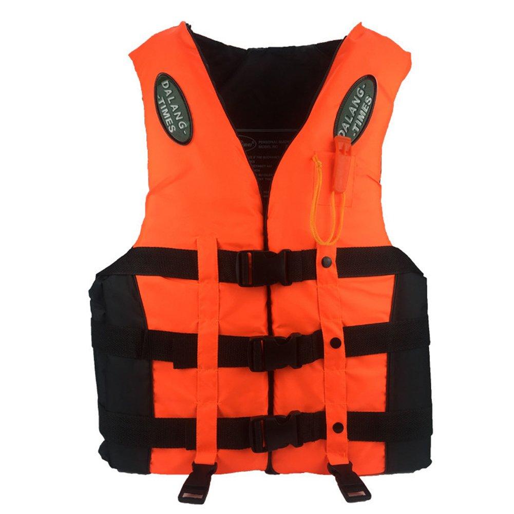 Karc Lifeジャケット厚み付けFoam LifeベストTeensシュノーケルベストBoatingベストSwimジャケット浮力大人用子供のための服 B07BSNH1PD S(Fits weight: 55lb-75lb)|オレンジ オレンジ S(Fits weight: 55lb-75lb)