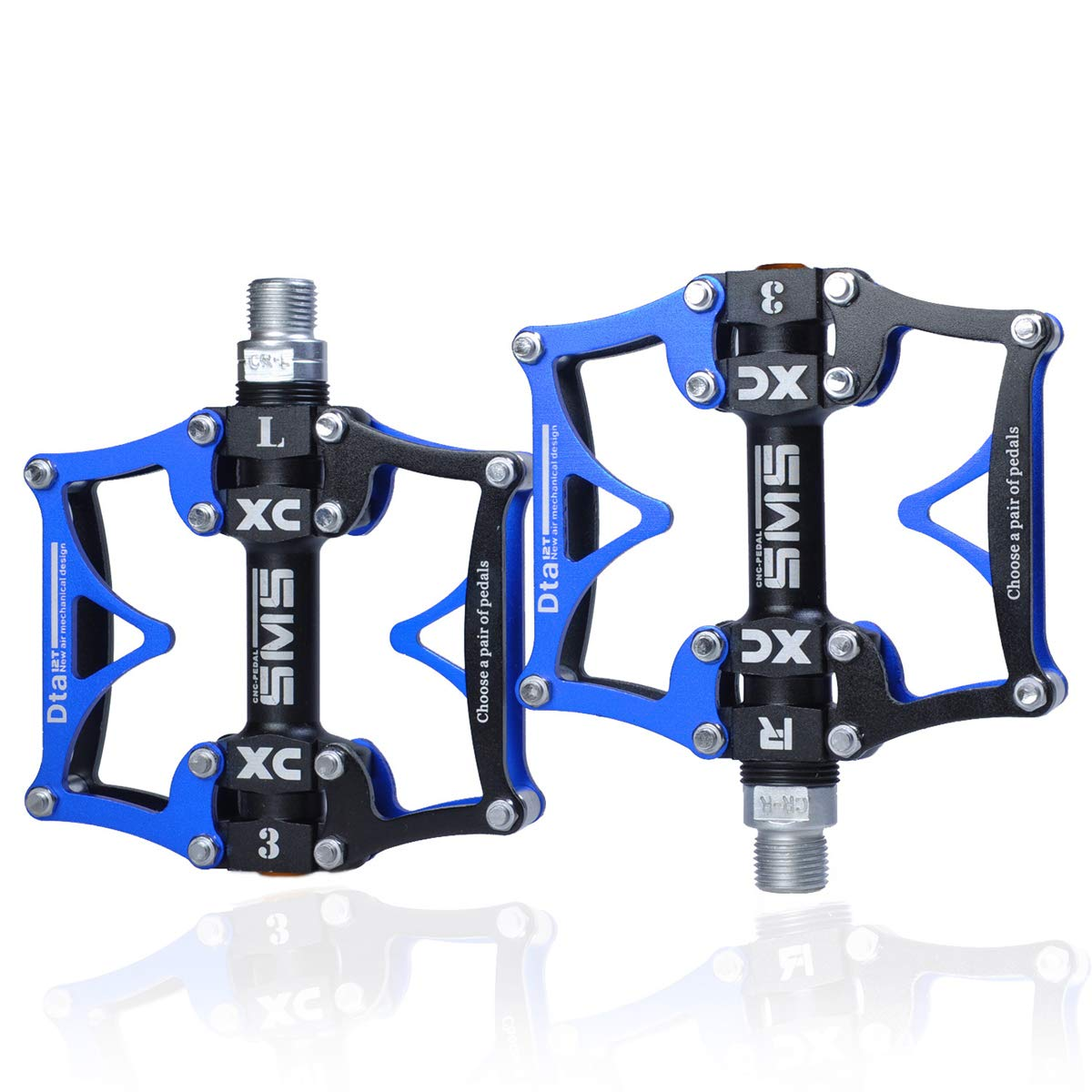 ThinkTop Mountain Bike Pedals Axle 9//16 3 Bearing Platform Pedals Flat Carbon Fiber and Aluminum Sealed Ever Lubricate Bearing for Road BMX MTB Bicycle Cycling