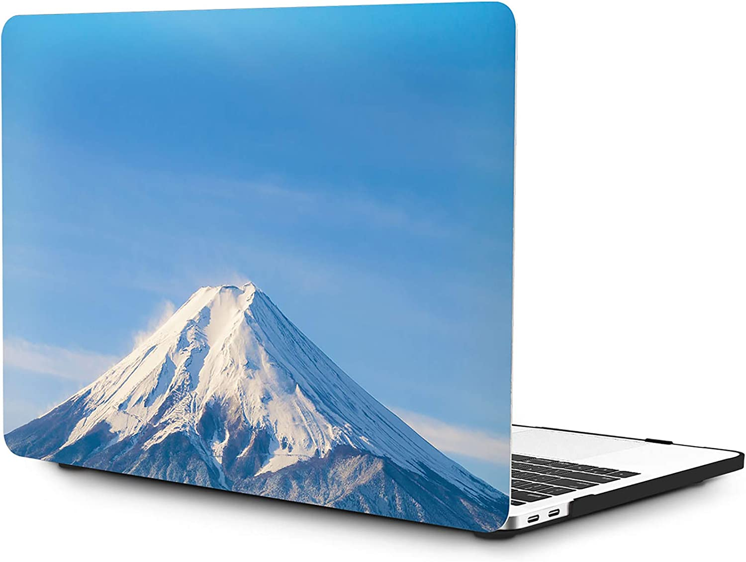 OneGET MacBook Pro 13 Inch Case with Touch Bar Laptop Case MacBook Pro13 2016-2019 Release A2159 A1989 A1706 A1708 MacBook Pro Cover for Cute MacBook Pro Case 13 Hard Shell Snow Mountain (S4)