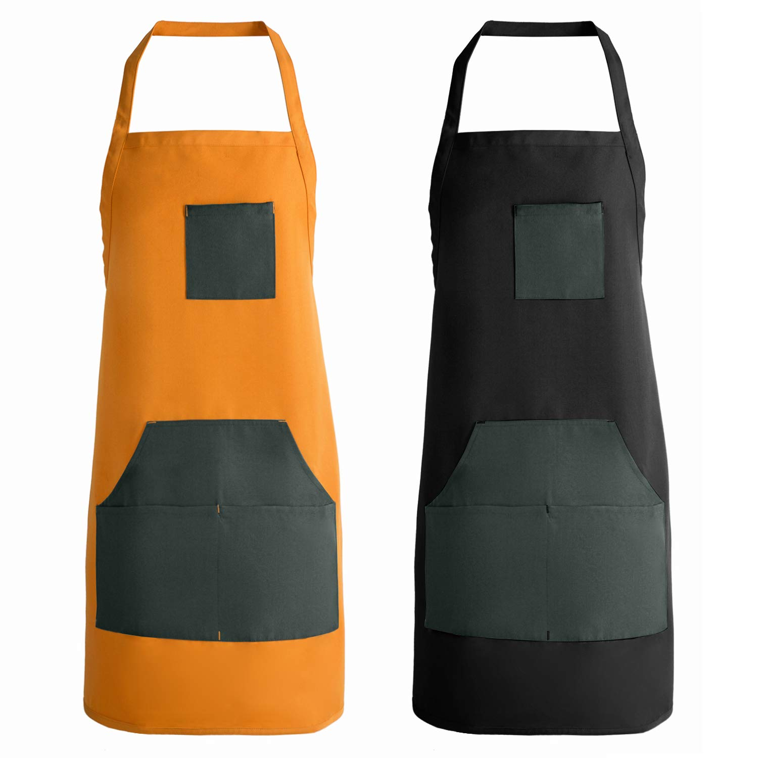 MOHEEN Work Apron For Men /& Women with Multiple Tools Pockets Waterproof Durable Cooking Apron