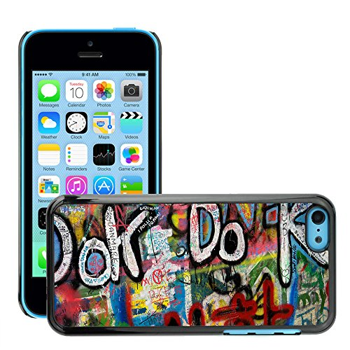 Premio Sottile Slim Cassa Custodia Case Cover Shell // V00002348 Graffiti // Apple iPhone 5C