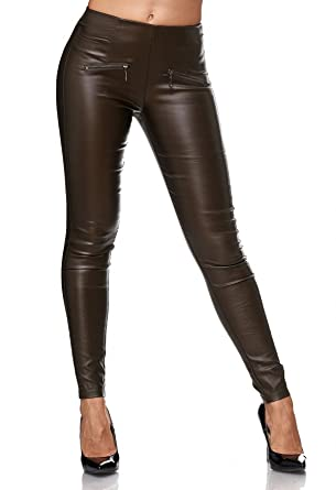ArizonaShopping - Jeans Damen Lederhose Biker Treggings Stretch Hose Faux  Leder D2156  Amazon.de  Bekleidung 350ef69d91