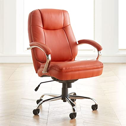 BrylaneHome Extra Wide Womanu0027s Office Chair (Orange ...