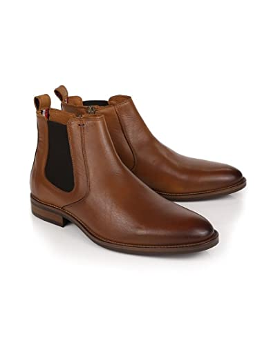 0a6ef077b77e Brown Mens Tommy Hilfiger Men s Daytona Chelsea Boots - Winter Cognac   Amazon.co.uk  Shoes   Bags