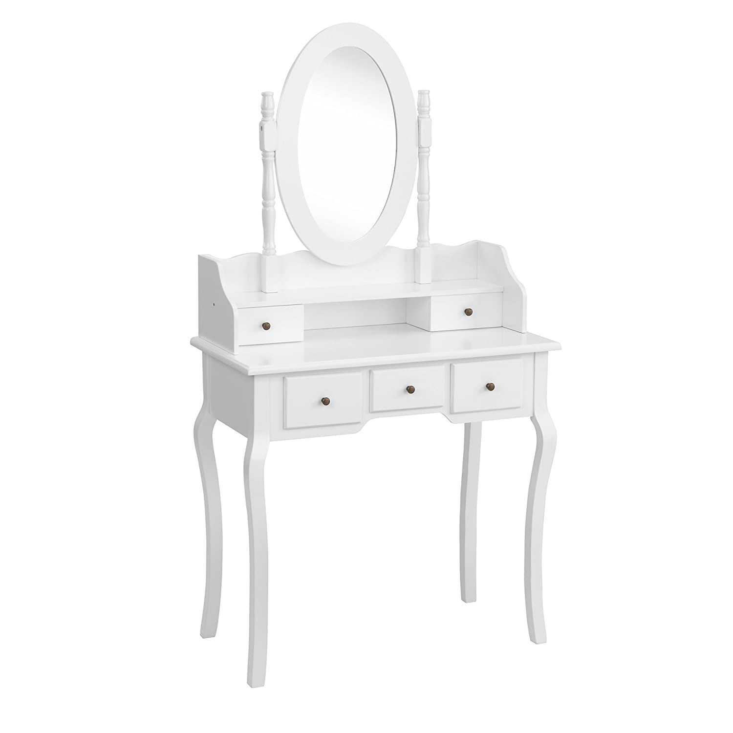 Beautify Bedroom Furniture Dressing Table Set With Mirror With 5