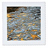 3dRose Danita Delimont - Patterns - Ice floes on the Colorado River, Colorado Riverway, near Moab, Utah - 16x16 inch quilt square (qs_260333_6)