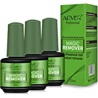3 Pcs Magic Nail Polish Remover, Professional Easily & Quickly Removes Soak-Off Gel Polish In 3-5 Minutes, Don't Hurt Your Nails,15ml