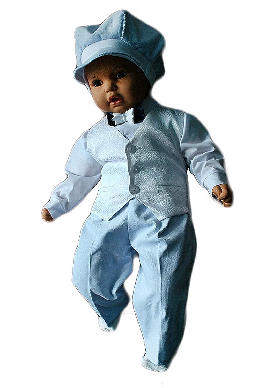 5tlg Wei/ß-BlauK7 Unbekannt Festanzug Taufanzug Baby Junge Kinder Kind Taufe Anzug Hochzeit Anz/üge
