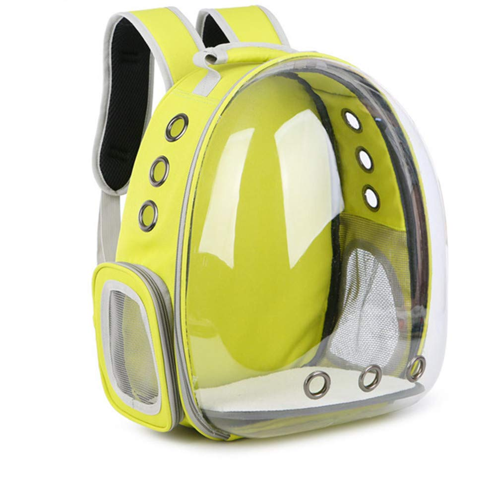 Jebblas pet Capsule Carrier Astronaut Pet Cat Dog Puppy Carrier Travel Bag Space Capsule Backpack Breathable (Yellow)